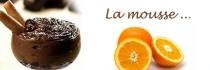 Dessert goûteux... Mousse au chocolat à l'orange
